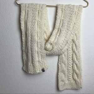 The North Face Cable Knit Scarf Cream